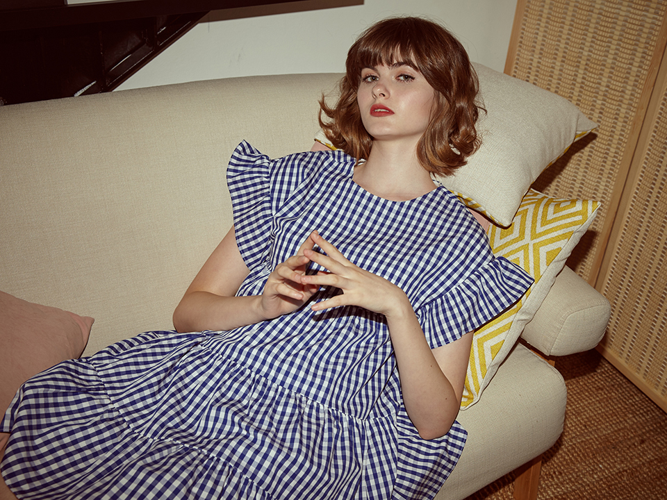 MAry blue gingham