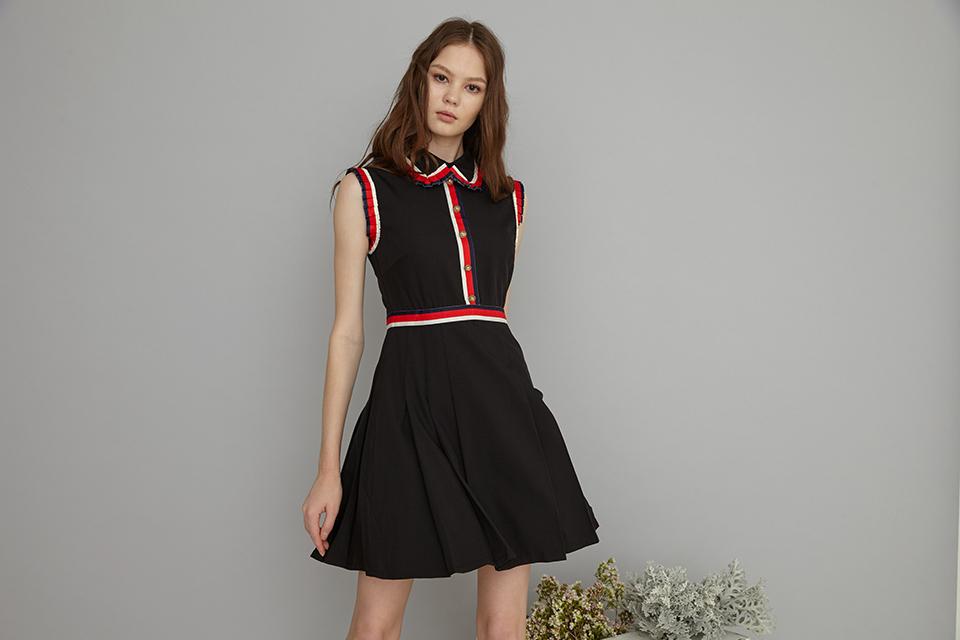 contrast classic dress