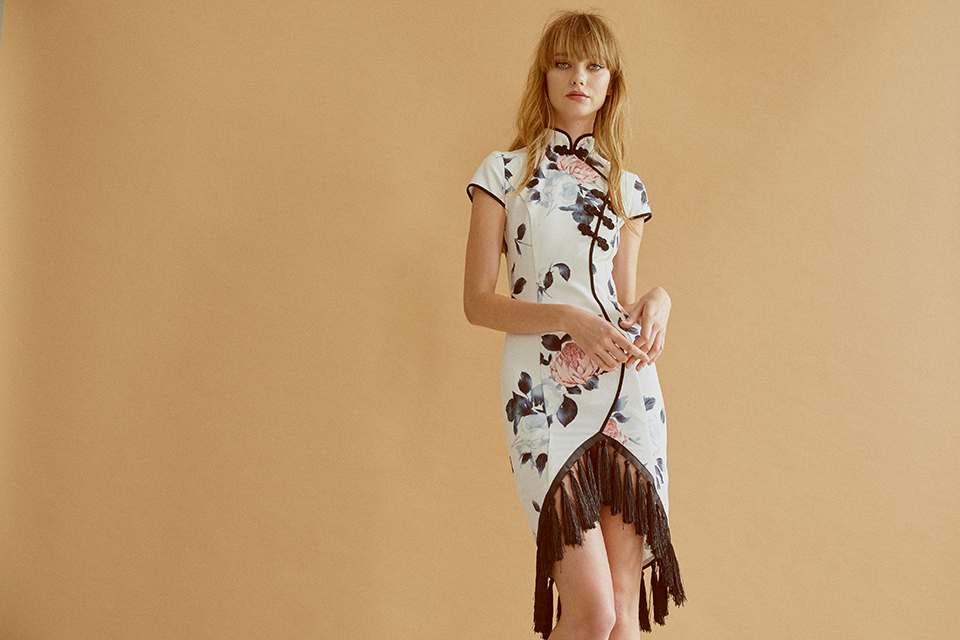 Tassel cheongsam dress