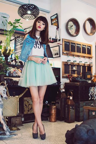 *PREMIUM* STACY MESH TUTU SKIRT IN MINT