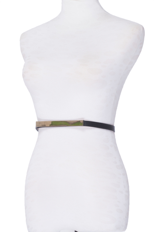 MGG Vita Skinny Metal belt in black