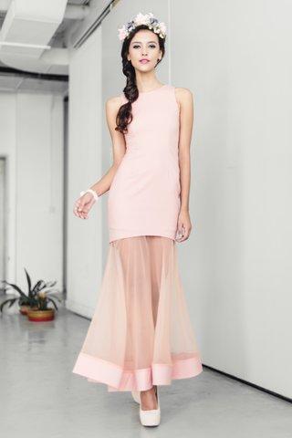 *PREMIUM* Brigette Mermaid tulle dress in Pink