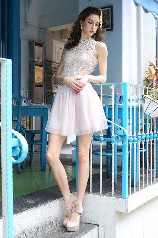*PREMIUM* Charlotte crochet tutu dress in pale pink