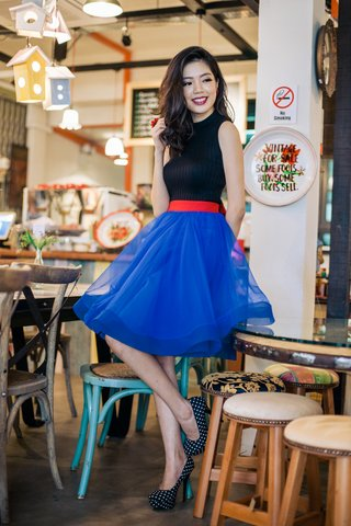 *PREMIUM* Flouncy Jellyfish tutu skirt in Electric blue