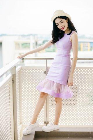 *PREMIUM* BRIGETTE MERMAID TULLE MINI DRESS IN Lilac