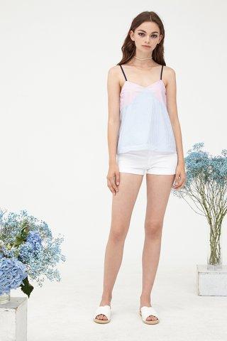 Pixi Stripey Color block camisole in Pink