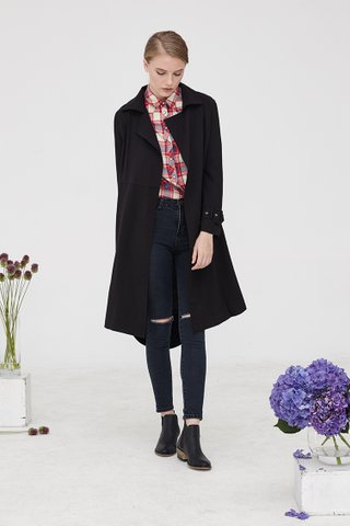MGG AUTUMN TRENCH IN Black