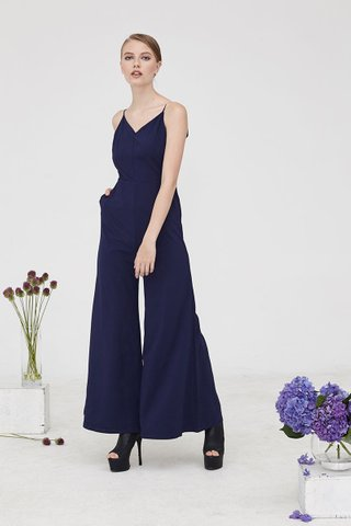 Dareen Palazzo Jumpsuit in Navy blue
