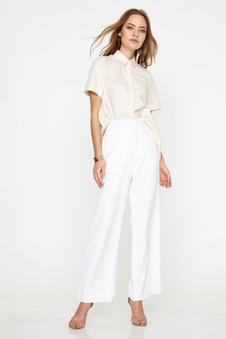 Olivia Asymmetrical shirt in nude