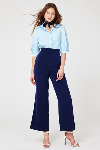 Printemps double collar shirt in blue