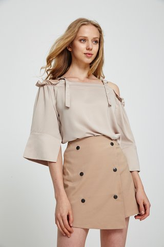 Kaysa Double breasted skirt in beige