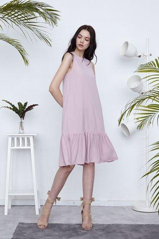 Heydi Dropwaist midi dress in Pink