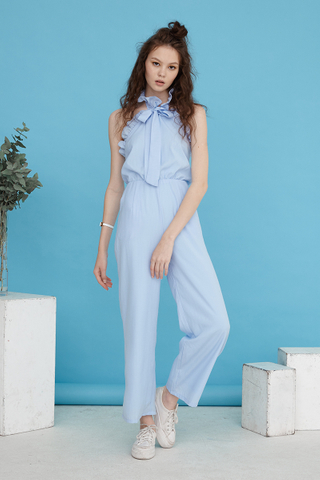 Marcella halter jumpsuit in blue