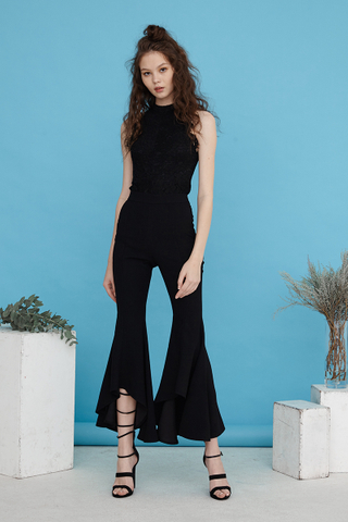 Natasya Wide flare pants in black