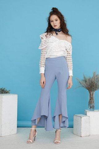 Natasya Wide flare pants in sky blue