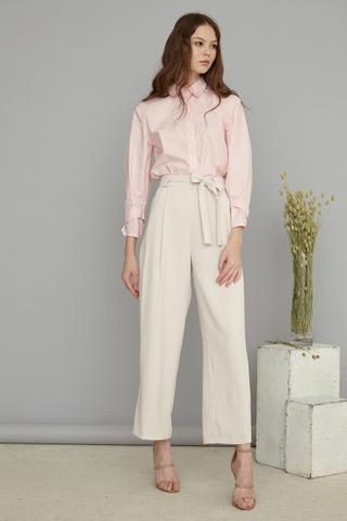 Issey Silver cuff shirt in pink
