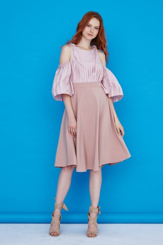 Celine Cut Out and Pleat Top in Pink