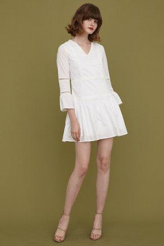 Kaia Crochet Sundress in white