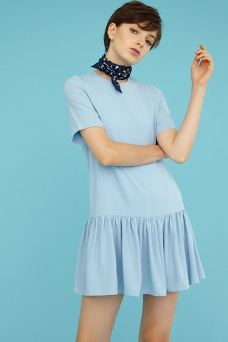 PIPER T-Shirt Playsuit in Powder Blue