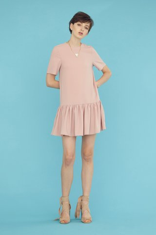 PIPER T-Shirt Playsuit in Pink