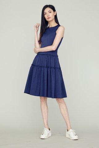 LING Tier Dress in Sapphire