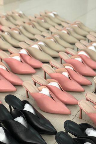 Pre-Order | Korean mules in Pink (8cm)