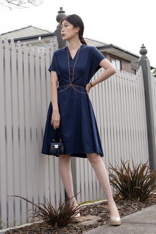 Jenn Skater dress in Sapphire